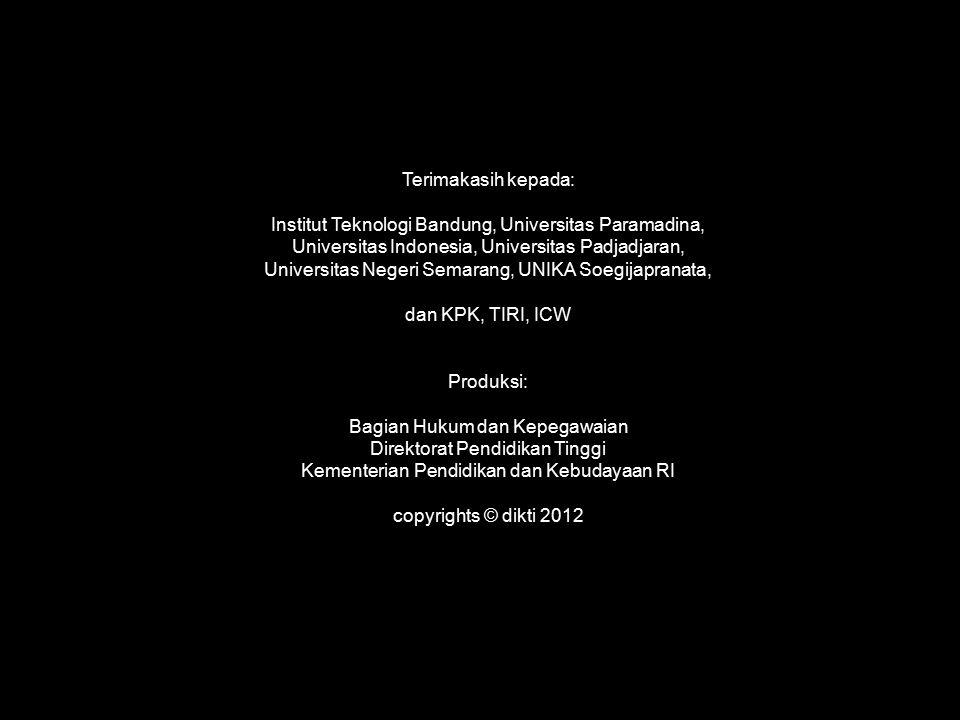Terimakasih kepada: Institut Teknologi Bandung, Universitas Paramadina, Universitas Indonesia, Universitas Padjadjaran, Universitas Negeri Semarang, U