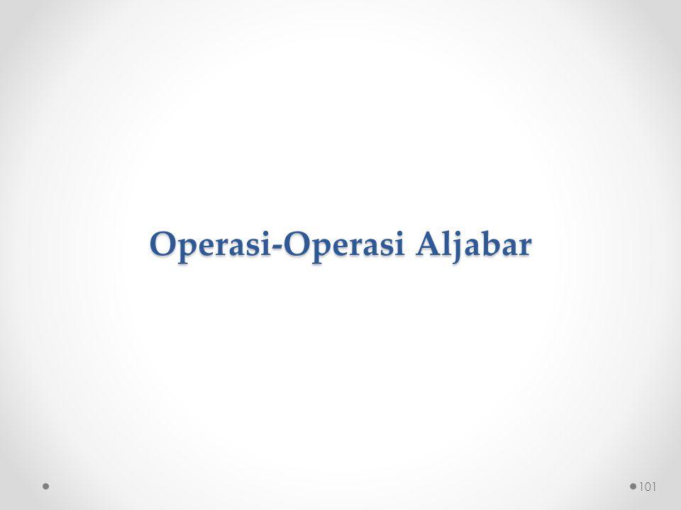 Operasi-Operasi Aljabar 101