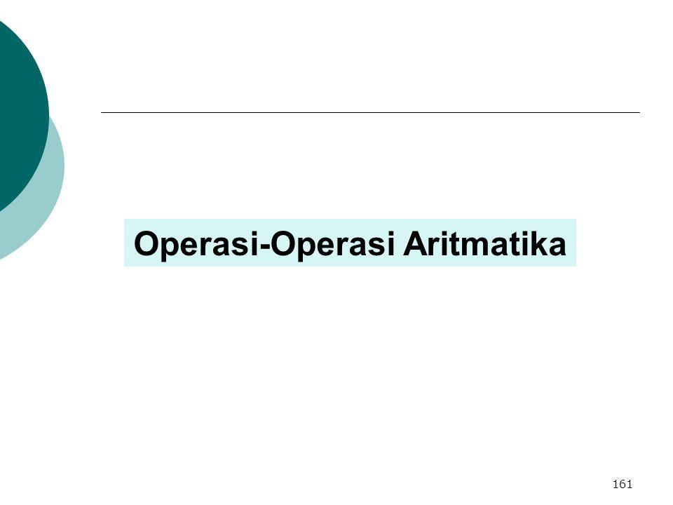 Operasi-Operasi Aritmatika 161