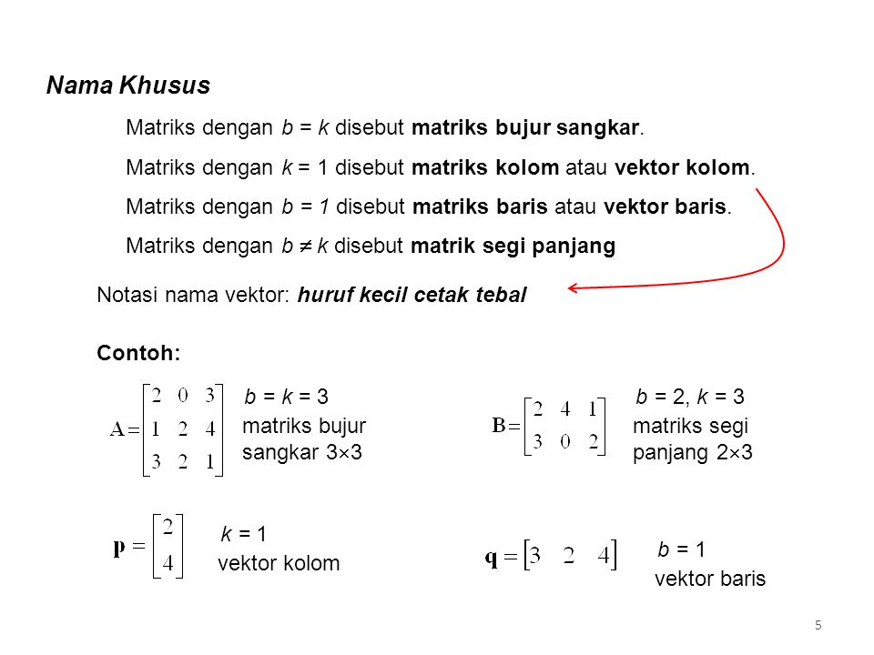 Secara umum, matriks A dapat kita tuliskan sebagai elemen-elemen a 11 …a mn disebut diagonal utama Diagonal Utama 6