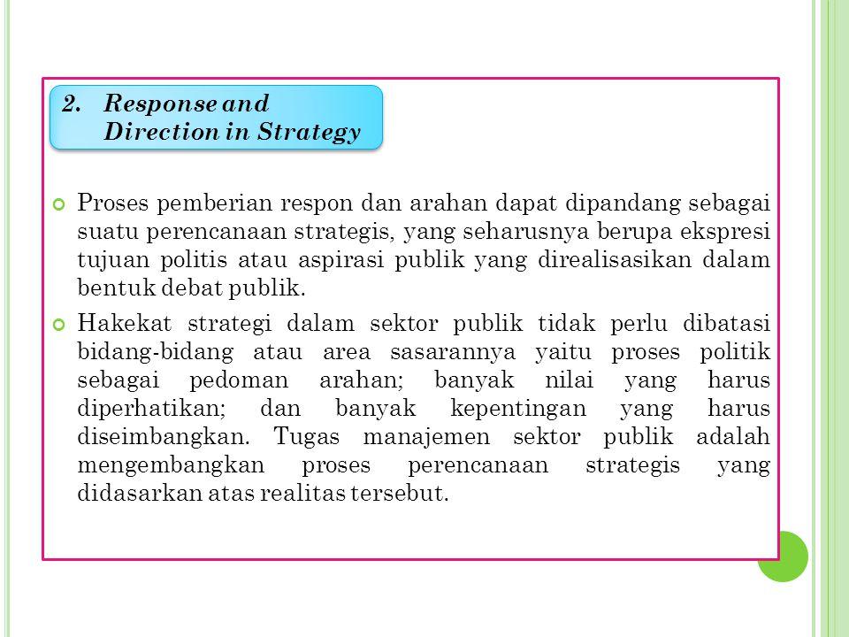 Dalam sektor publik terdapat ritma masalah dan aspirasi; respon dan aksi; kegagalan dan keberhasilan. Ritma tersebut merupakan produk dari adanya peru