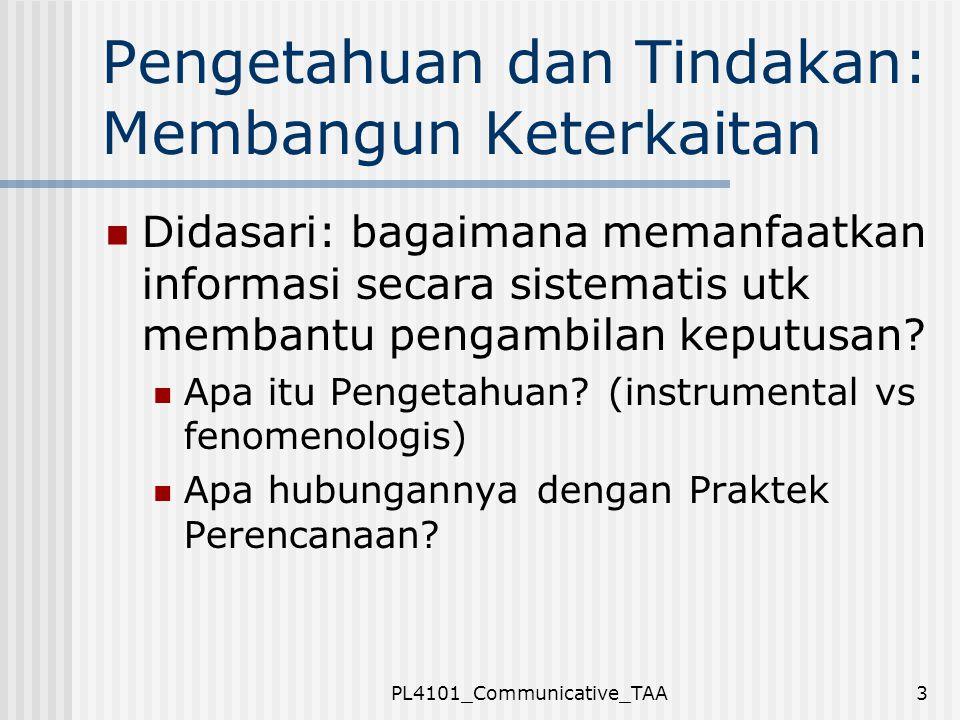PL4101_Communicative_TAA14 Pengetahuan Berdasarkan rasionalitas komunikatif: 1.