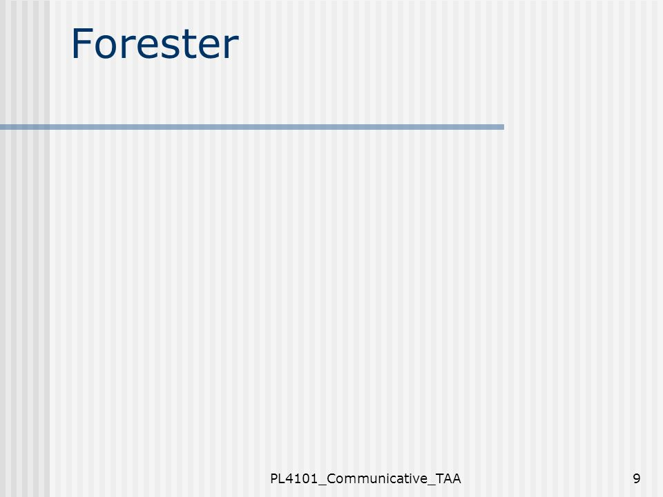 Forester PL4101_Communicative_TAA9