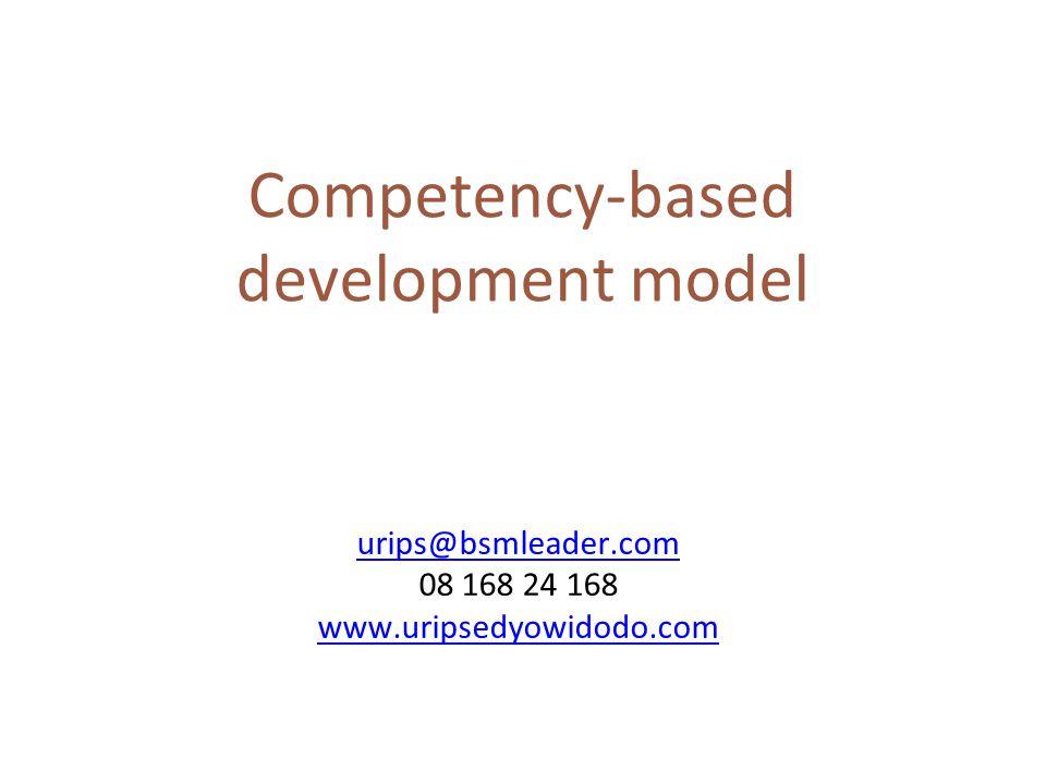 Competency-based development model urips@bsmleader.com 08 168 24 168 www.uripsedyowidodo.com