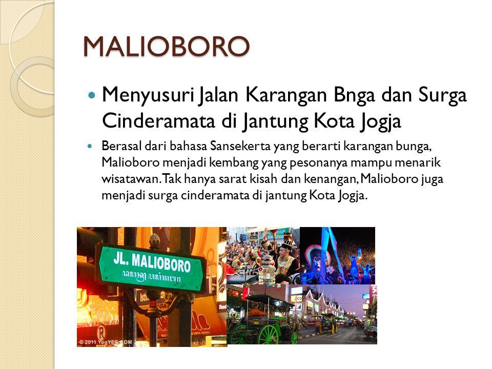 TUGU JOGJA Landmark Kota Jogja yang Paling Terkenal Tugu Jogja memendam makna filosofis tentang semangat perlawanan atas penjajahan dan kini menjadi landmark yang sangat lekat dengan Kota Jogja.