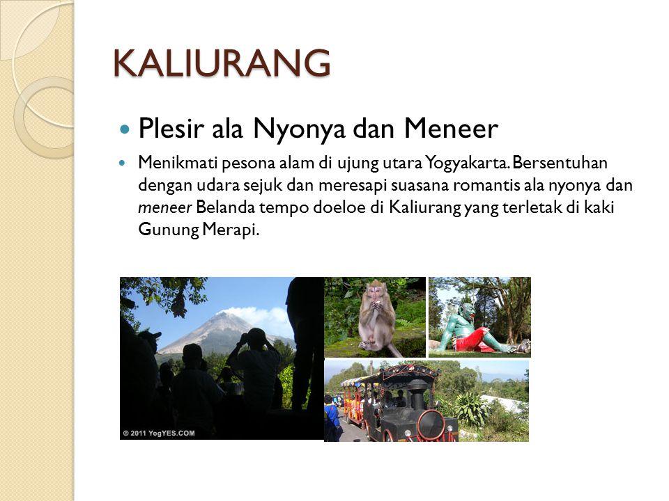 PARANGTRITIS Pantai Paling Terkenal di Yogyakarta Pantai Parangtritis adalah tempat wisata terbaik untuk menikmati sunset sambil having fun menaklukkan gundukan pasir dengan ATV (All-terrain Vechile) ataupun menyusuri pantai dengan bendi dalam senja.