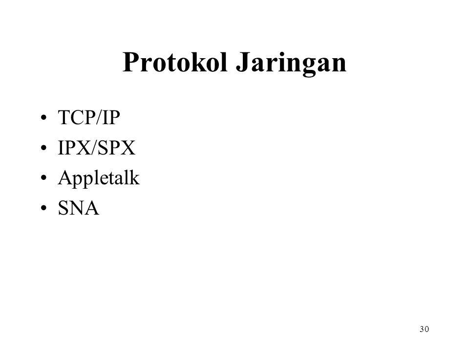 30 Protokol Jaringan TCP/IP IPX/SPX Appletalk SNA