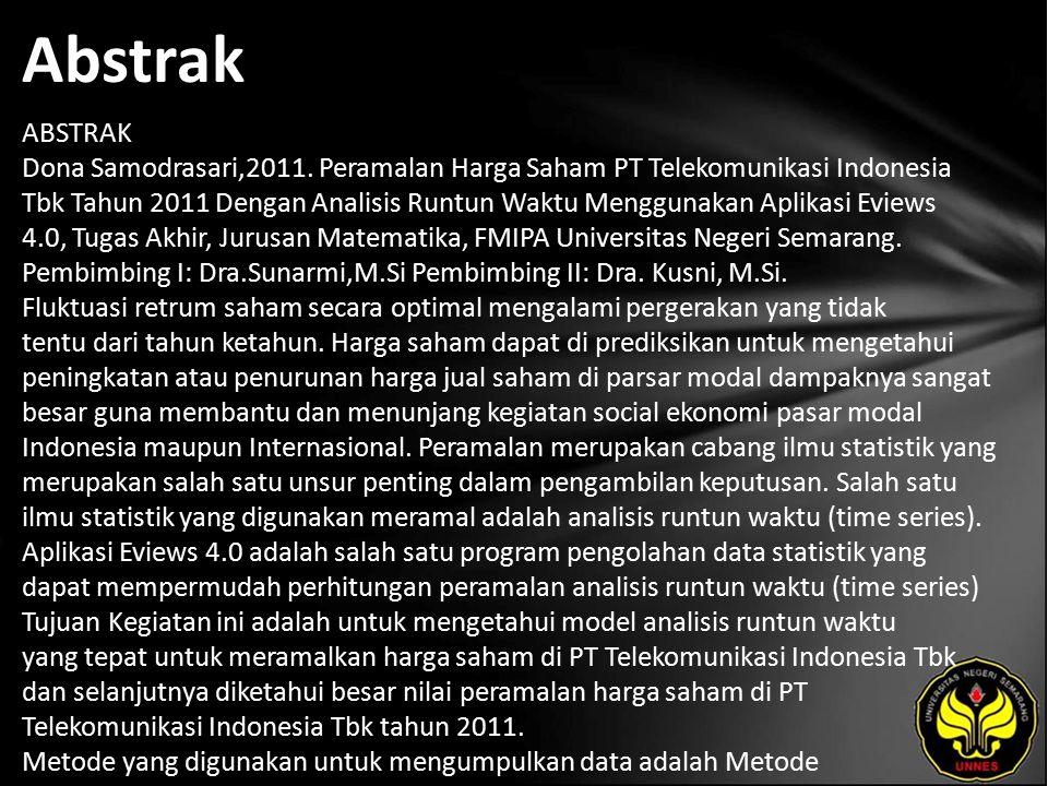 Abstrak ABSTRAK Dona Samodrasari,2011.