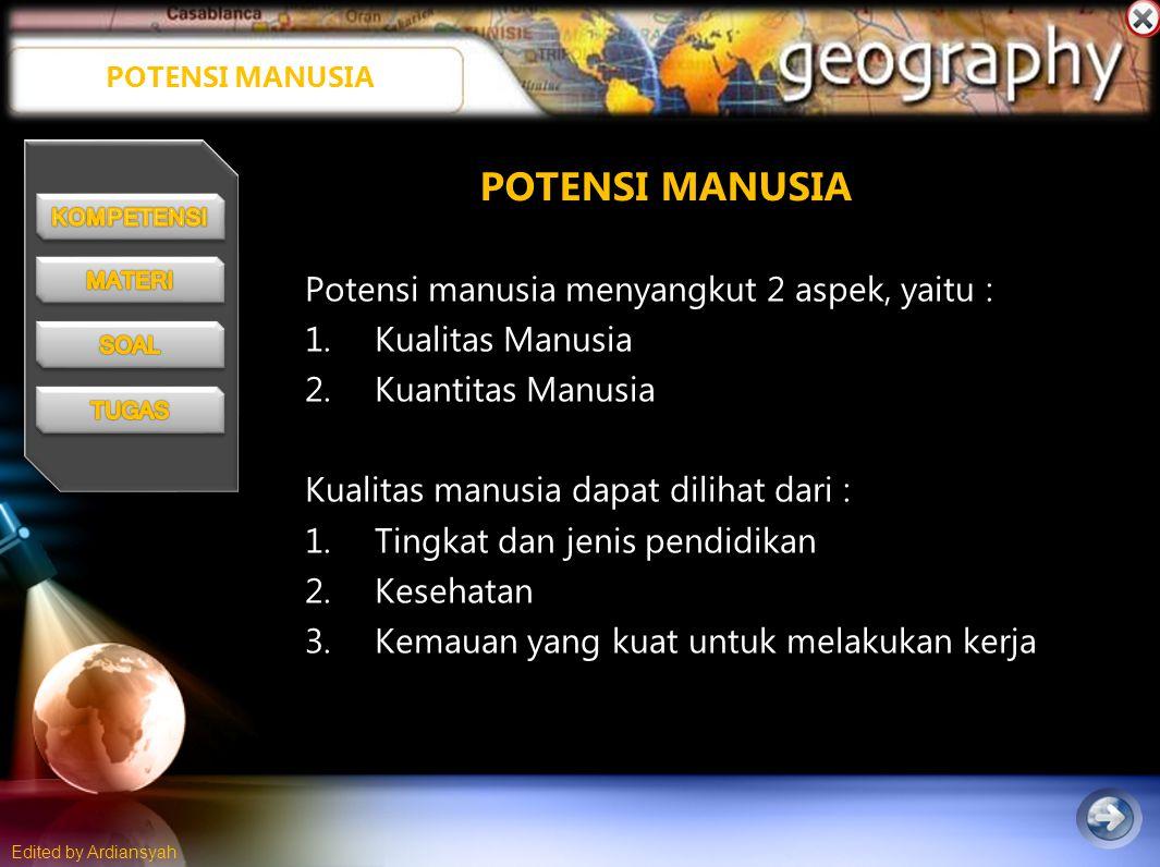 Edited by Ardiansyah Piramida Penduduk Muda