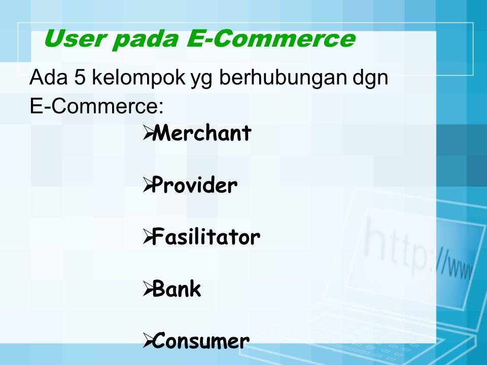 Merchant Perusahaan yang menyediakan E-Commerce sebagai media komunikasi dan informasi bisnisnya.
