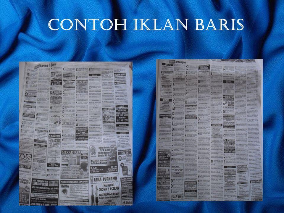 CONTOH IKLAN BARIS