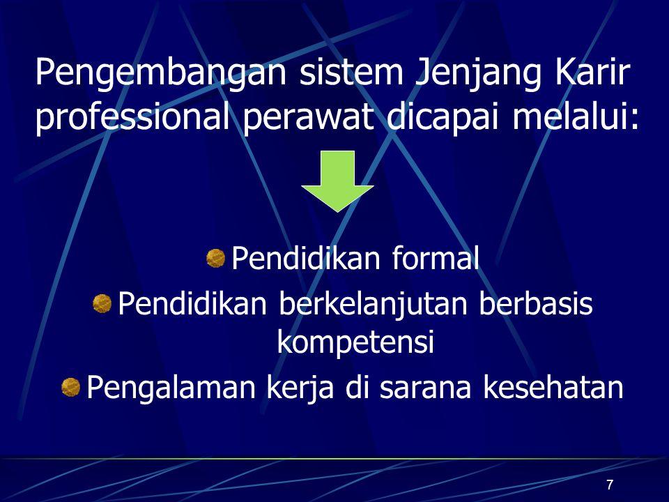 8 Tujuan Jenjang Karir Professional Perawat: 1.