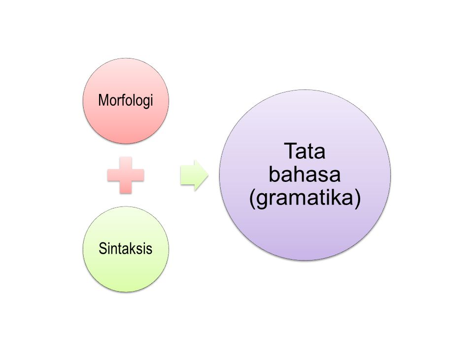 MorfologiSintaksis Tata bahasa (gramatika)