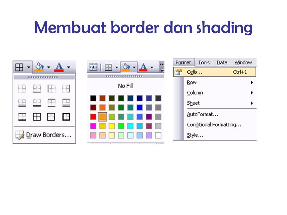 Membuat border dan shading