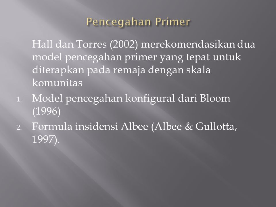 Model Bloom berfokus pada tiga dimensi, yaitu:  Pertama, konselor harus bekerja untuk meningkatkan kekuatan individu dan mengurangi keterbatasan individu.