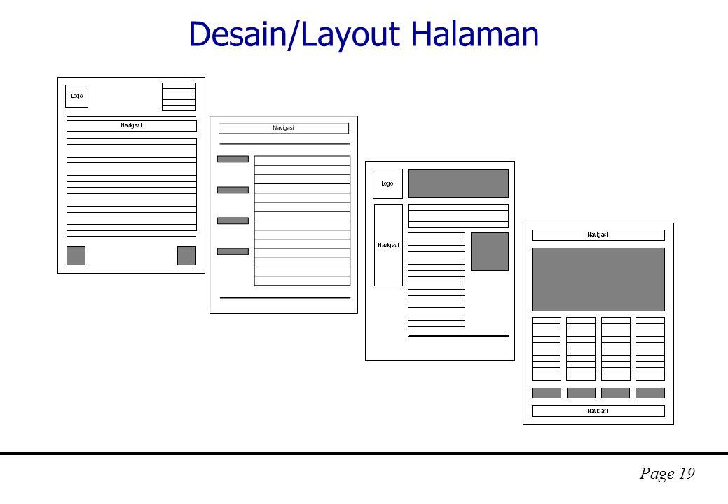 Page 19 Desain/Layout Halaman