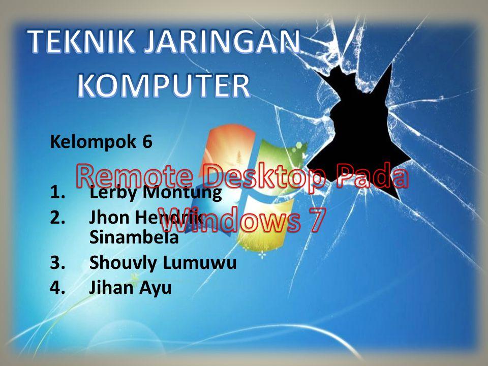 Kelompok 6 1.Lerby Montung 2.Jhon Hendrik Sinambela 3.Shouvly Lumuwu 4.Jihan Ayu