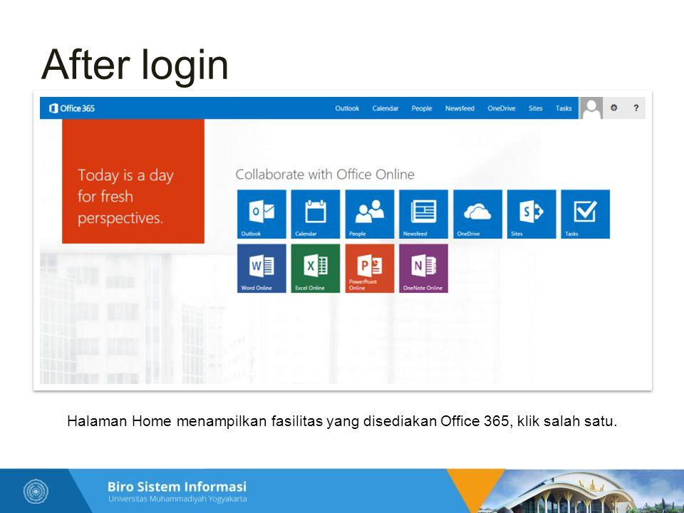 Penggunaan pertama kali  Bagi pengguna yang baru pertama kali login, maka diperlukan konfigurasi akun sebagai berikut.