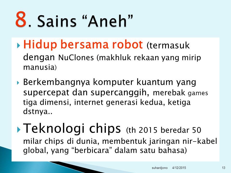  Ancaman terhadap negara maupun umat manusia akan makin kompleks sejalan dengan majunya teknologi.