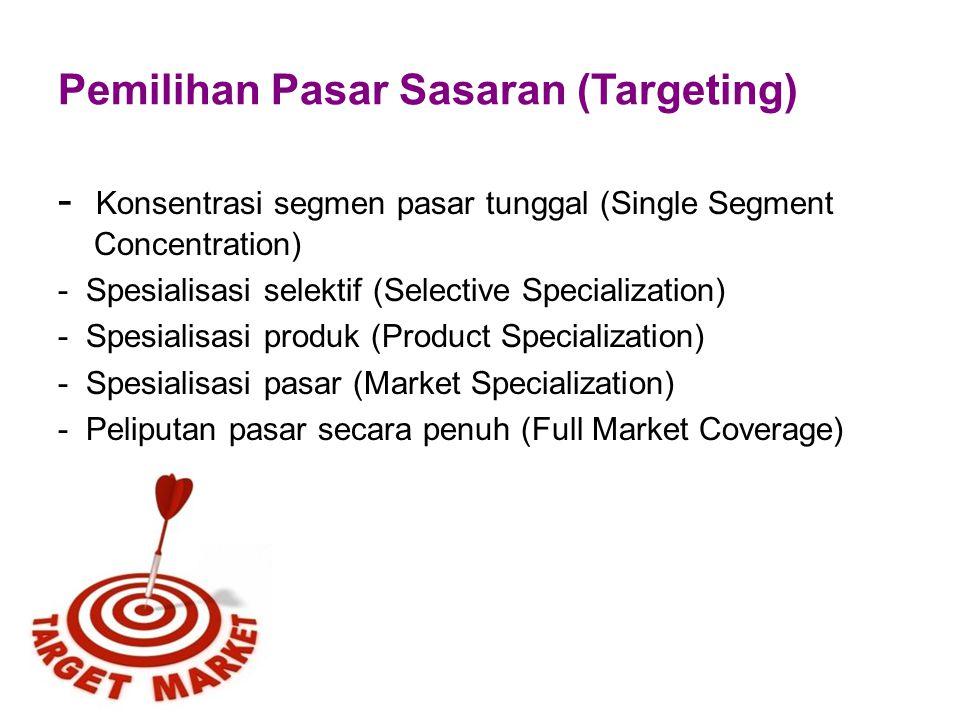 Menetapkan Target Pasar 1.Target harus spesifik misal : meningkatkan 10 % penjualan restoran 2.Target harus dapat diukur 3.Target harus bisa diraih ( realistis )