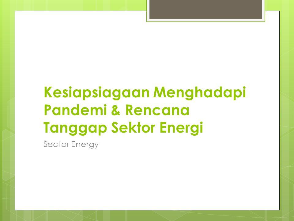 Kesiapsiagaan Menghadapi Pandemi & Rencana Tanggap Sektor Energi Sector Energy