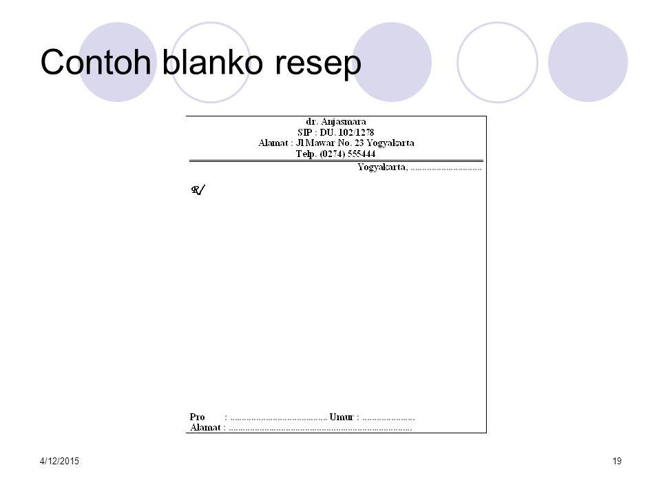 4/12/201520 Contoh blanko salinan resep