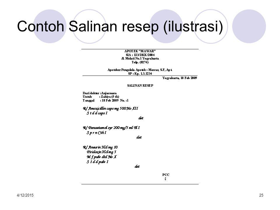 4/12/201526 Contoh Salinan resep (ilustrasi)
