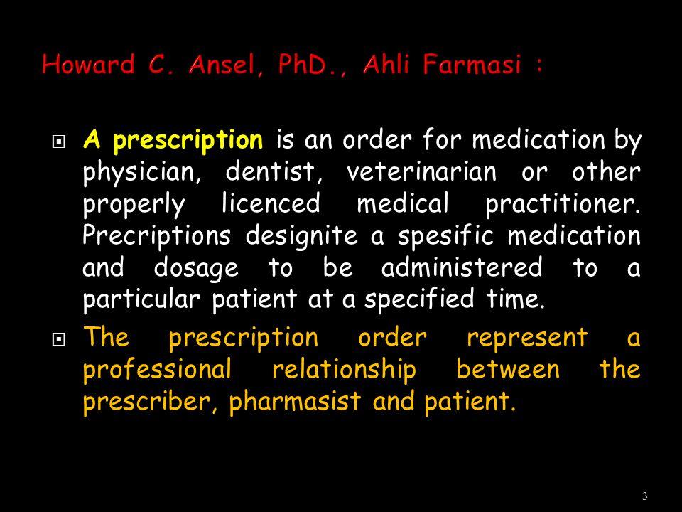  Dokter  dlm batas-batas pengobatan penyakit manusia  Dokter Gigi  dlm batas pengobatan penyakit mulut & gigi manusia  Dokter Hewan  dlm batas pengobatan pada hewan Yang Berhak Membuat & Meracik Obat.