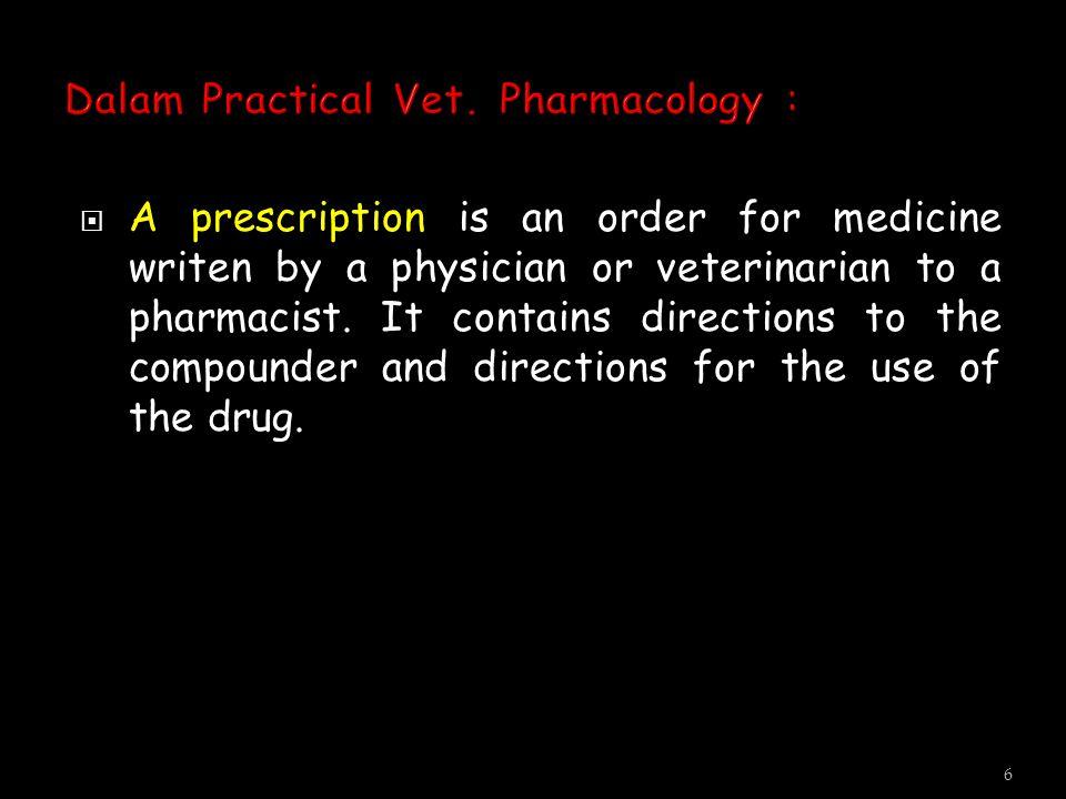  Prescription : Bahasa latin mengandung makna;  prae = sebelum,scriptum = menulis  Sebelum menulis.
