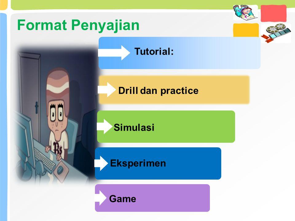 Format Penyajian Tutorial: Drill dan practice Simulasi Eksperimen Game