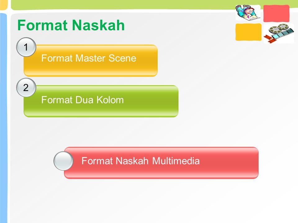 Format Naskah 1 2 Format Master Scene Format Dua Kolom Format Naskah Multimedia