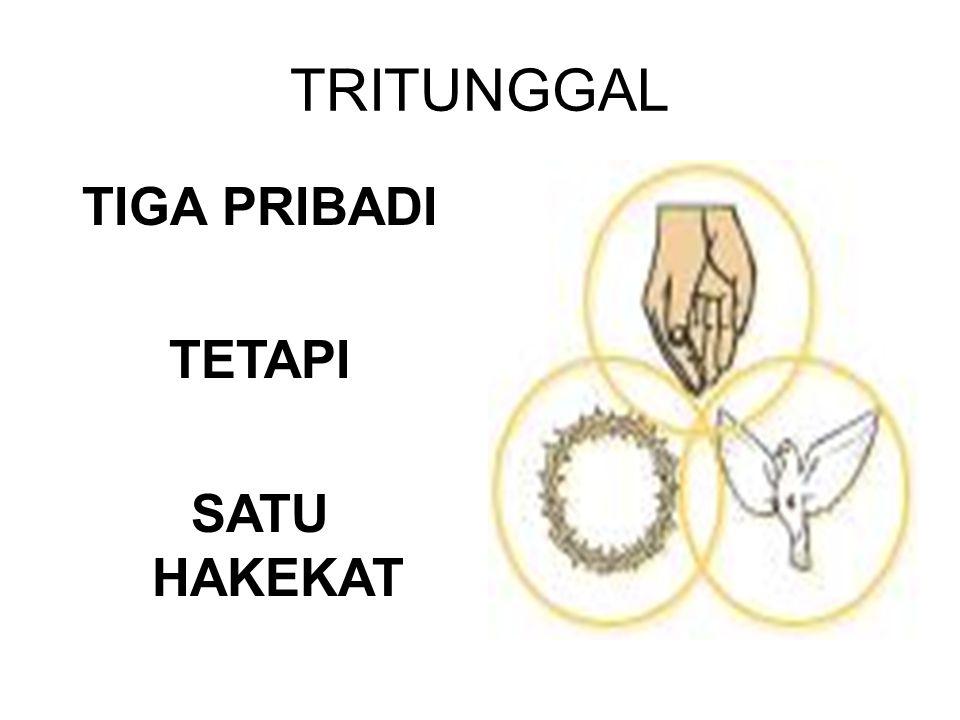 TRITUNGGAL TIGA PRIBADI TETAPI SATU HAKEKAT