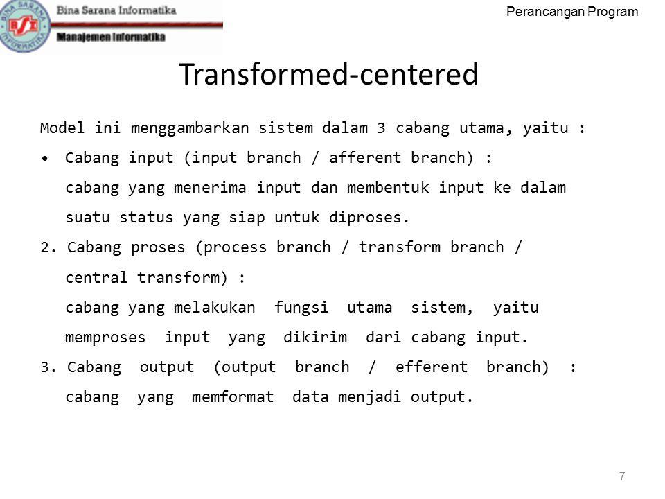 Perancangan Program Transformed‐centered 8