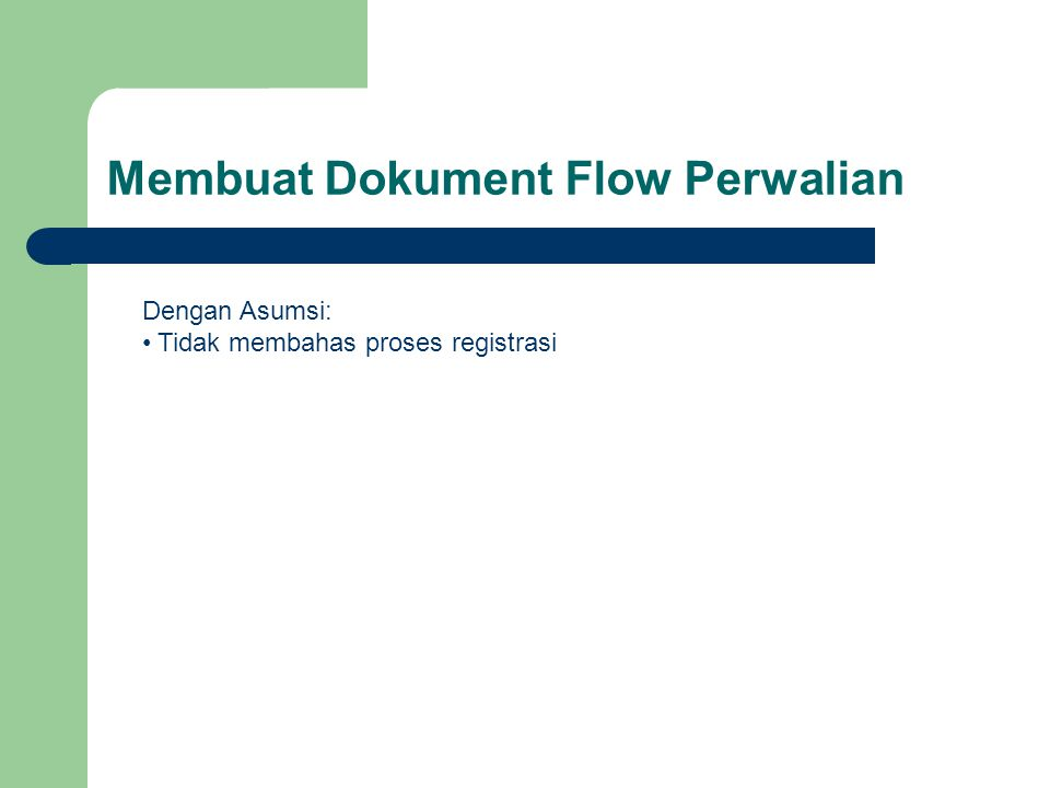 Membuat Dokument Flow Perwalian Dengan Asumsi: Tidak membahas proses registrasi