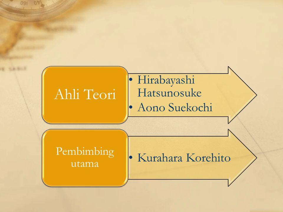 Hirabayashi Hatsunosuke Aono Suekochi Ahli Teori Kurahara Korehito Pembimbing utama