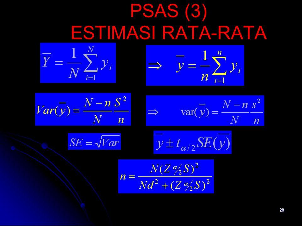28 PSAS (3) ESTIMASI RATA-RATA