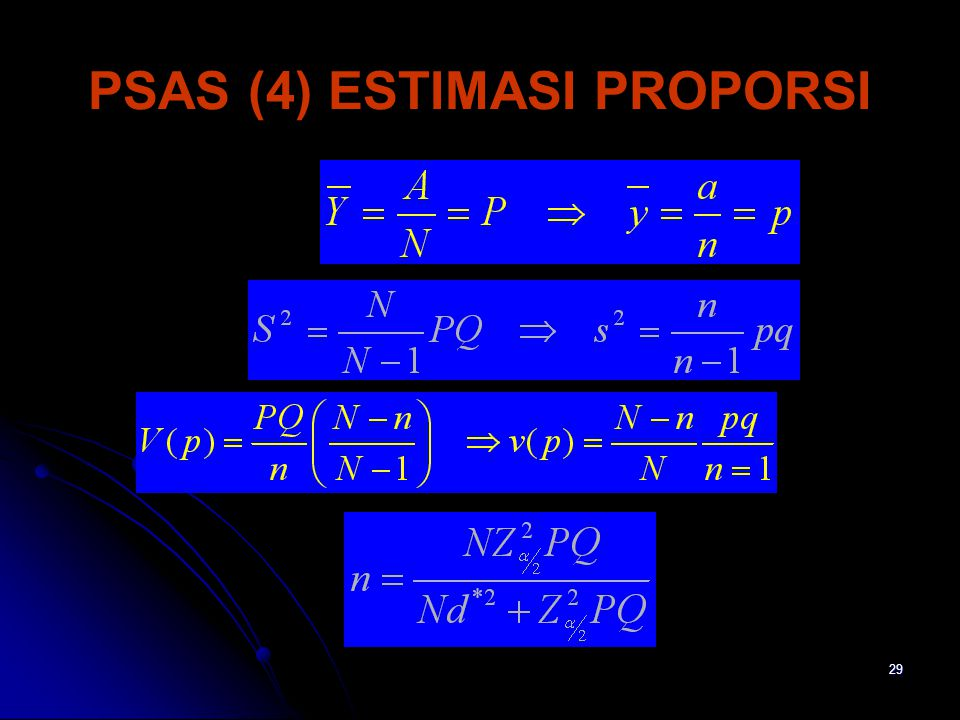 29 PSAS (4) ESTIMASI PROPORSI