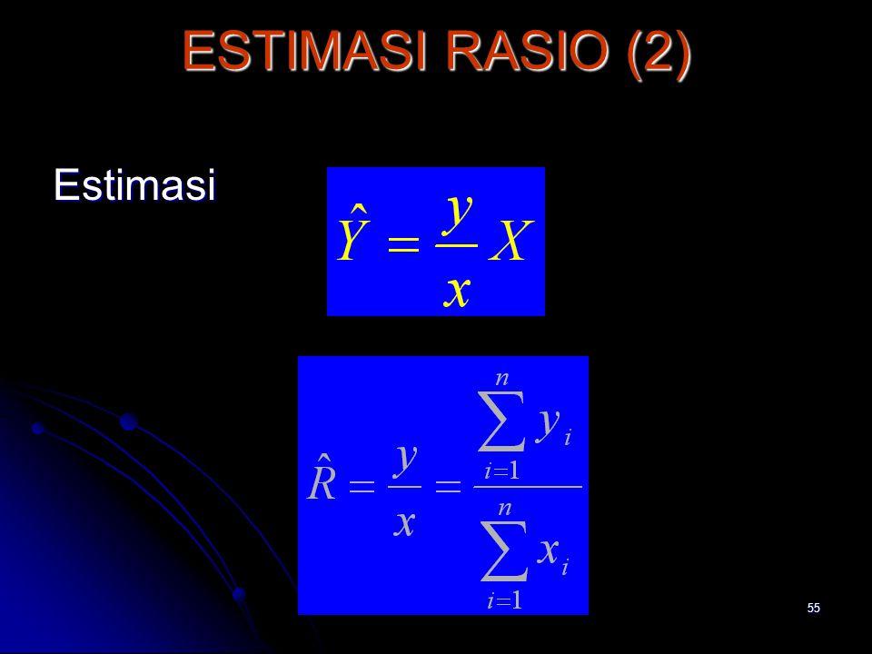 55 ESTIMASI RASIO (2) Estimasi