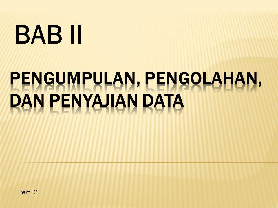 D.Penyajian Data Selain berupa angka-angka ringkasan,penyajian data dapat berbentuk dan