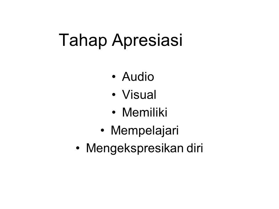 Tahap Apresiasi Audio Visual Memiliki Mempelajari Mengekspresikan diri
