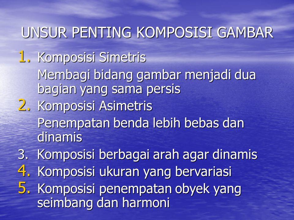 UNSUR PENTING KOMPOSISI GAMBAR 1.