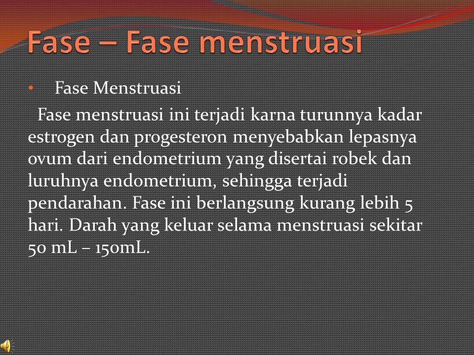 Menstruasi merupakan pendarahan yang terjadi akibat luruhnya dinding sebelah dalam rahim (endrometrium) yang banyak mengandung pembulu darah.