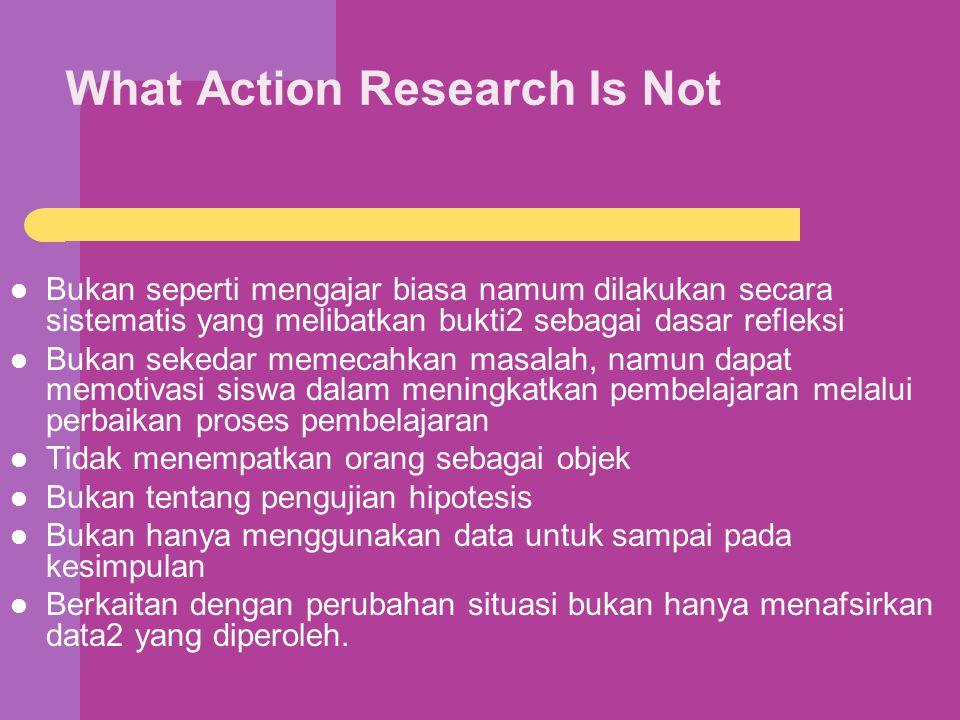 Pemanfaatan Hasil Pemantauan Pemaknaan hasil menjadi dasar untuk merumuskan langkah-langkah berikutnya dalam pelaksanaan tindakan