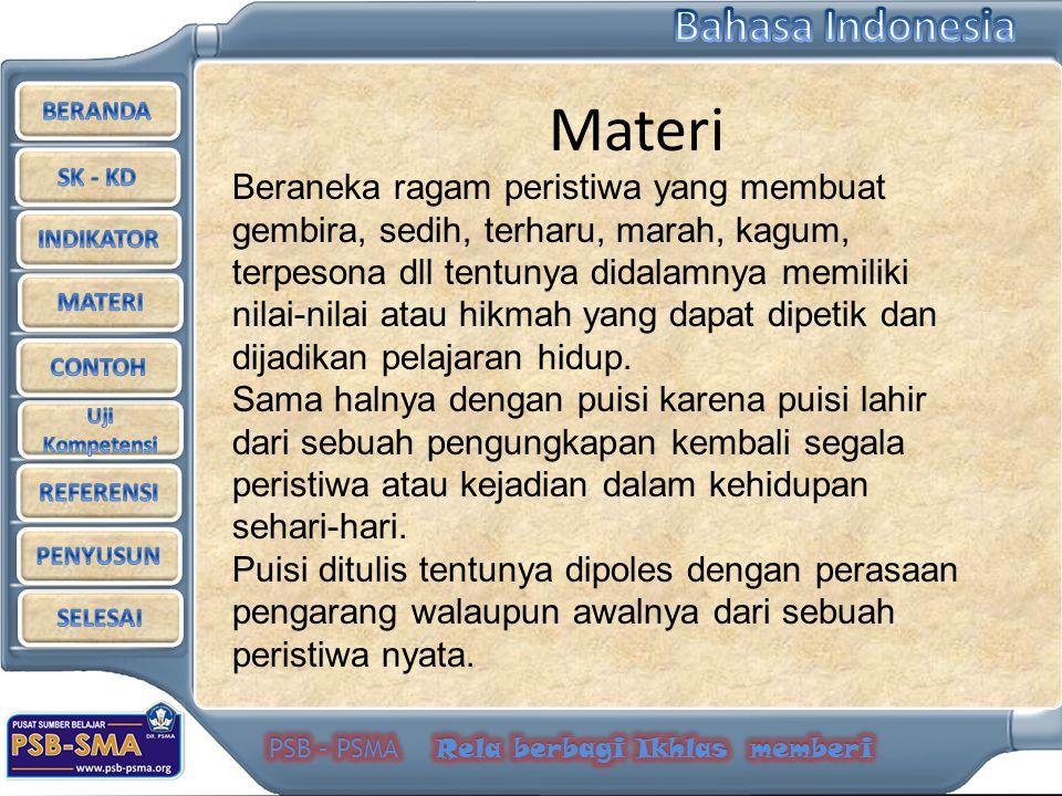 Ganda, Asep.1999.Bahasa Indonesia.Jakarta: Grafindo Soenaryo Andi.
