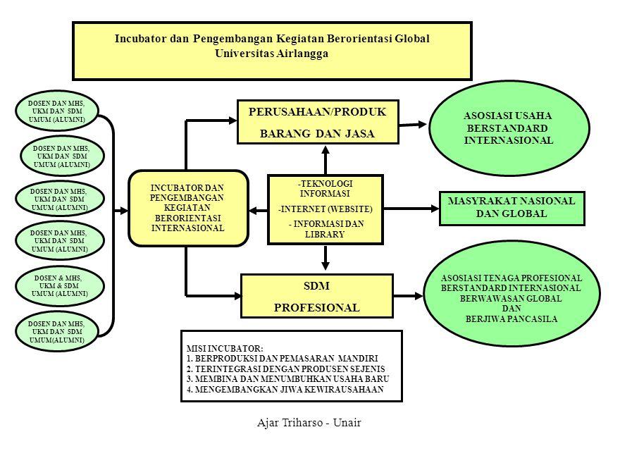Ajar Triharso - Unair Incubator dan Pengembangan Kegiatan Berorientasi Global Universitas Airlangga PERUSAHAAN/PRODUK BARANG DAN JASA SDM PROFESIONAL