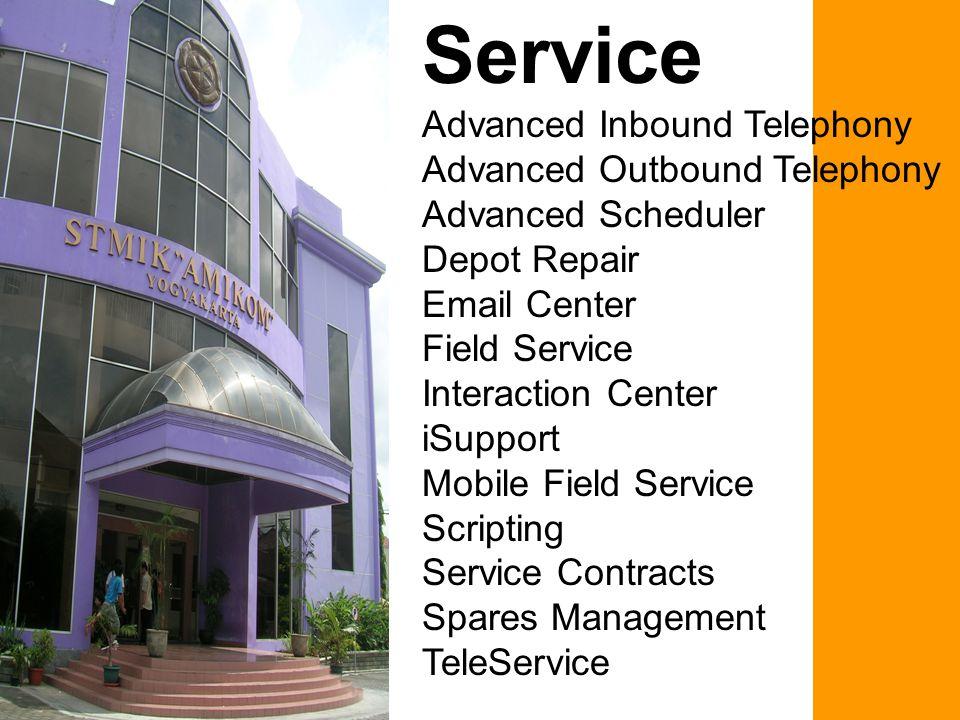 Advanced Inbound Telephony Advanced Inbound Telephony menyediakan integrasi telephony integration ke seluruh sistem telepon dan mendukung kepemimpinan CTI middleware, yang hasilnya pusat interaksi pelanggan dapat mendukung fungsionalitas kunci, misalnya intelligent routing and queuing.