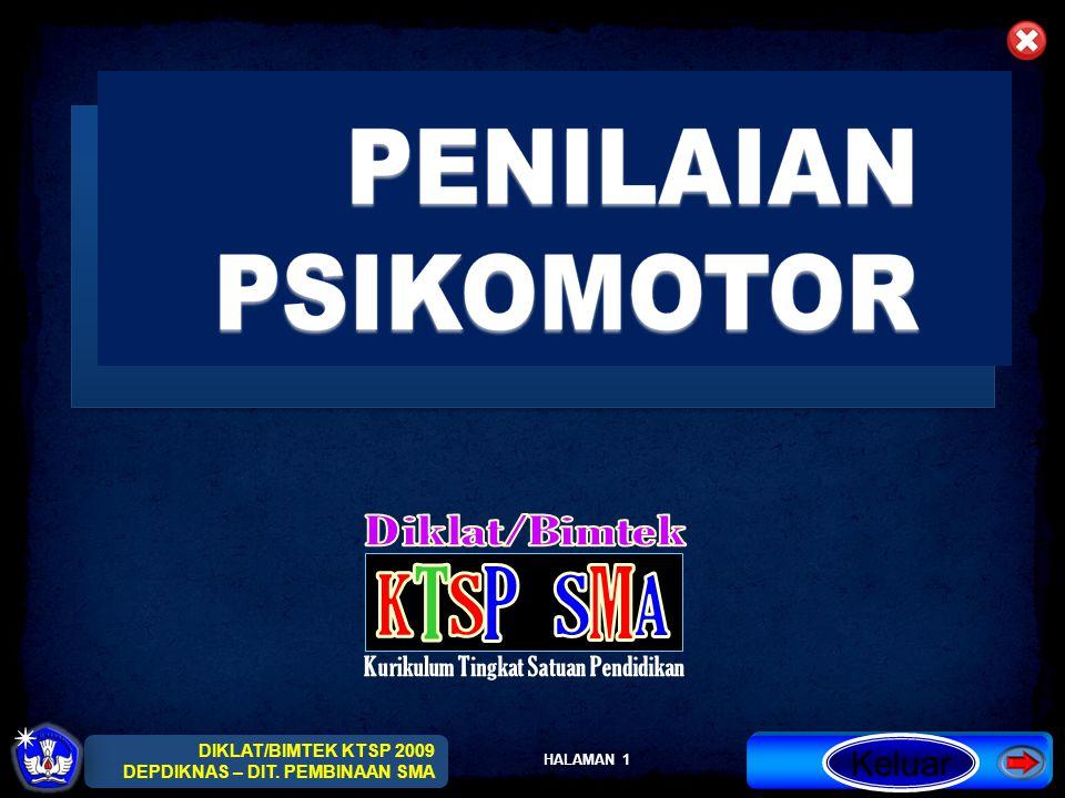 HALAMAN 12 DIKLAT/BIMTEK KTSP 2009 DEPDIKNAS – DIT.