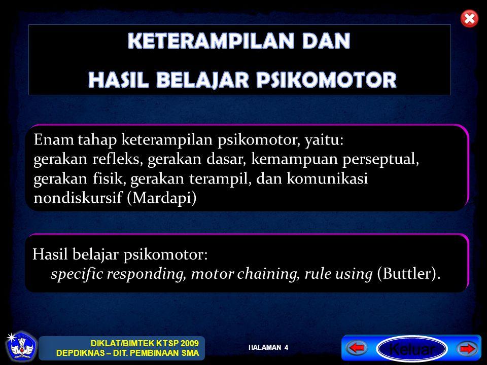 HALAMAN 5 DIKLAT/BIMTEK KTSP 2009 DEPDIKNAS – DIT.