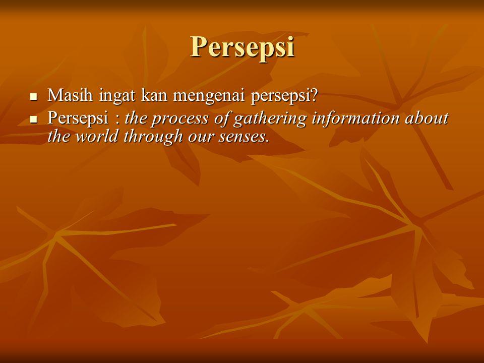 Persepsi Masih ingat kan mengenai persepsi.Masih ingat kan mengenai persepsi.