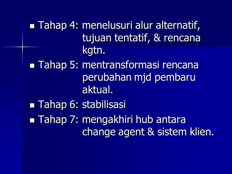 Tahap 4: menelusuri alur alternatif, tujuan tentatif, & rencana kgtn.